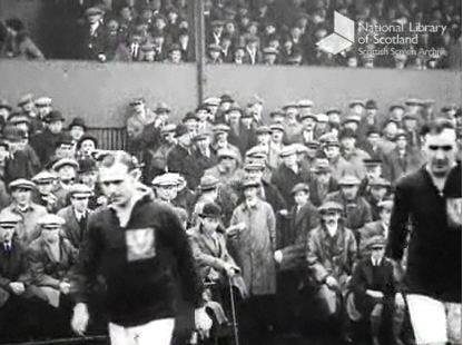 1921 Scottish Cup 4th Round v Motherwell [Film]