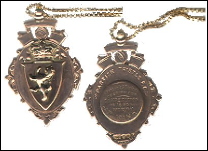 Robert King's Greenock Charity Cup Winners medal