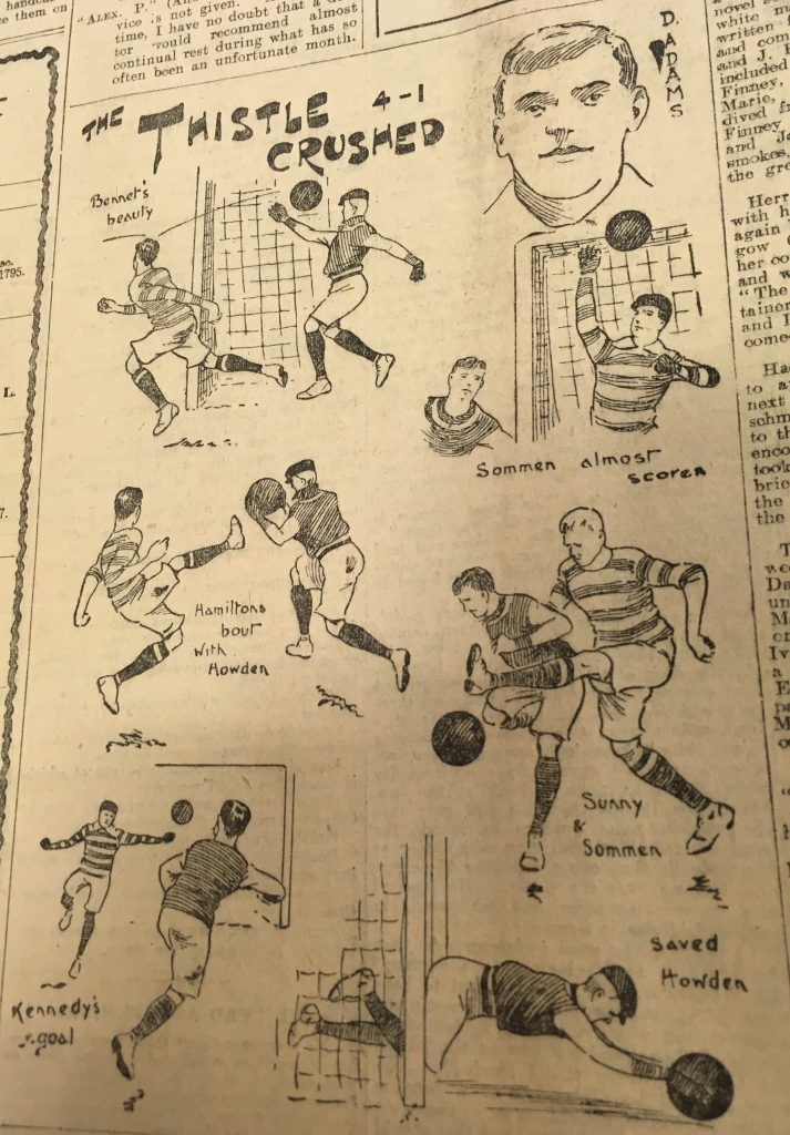 Celtic v Partick Thistle from 1906. Image from the Scottish Weekly Record.