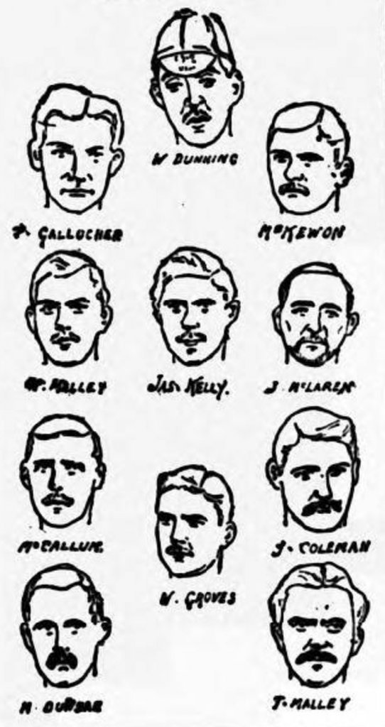 Celtic team, 1889 Scottish Cup Final