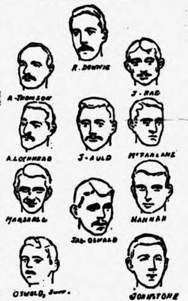 Third Lanark team, 1889 Scottish Cup Final